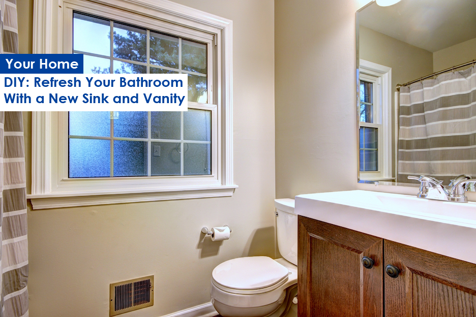 Bathroom Cabinets Louisville Ky diy: refresh your bathroom with new sink & vanity - greystone realtors